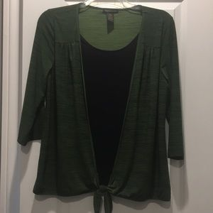 Layered tie front top size XL by Susan Lawrence